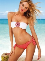 2014 new fashion style Beauty Women Top Strapless Bikini diamond bikini Sexy Swimsuit Top and Bottoms Swimwear 2color