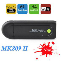 MK809 II Android 4.1 Mini PC TV Stick Rockchip RK3066 1.6GHz Cortex A9 Dual core 1GB RAM 8GB Bluetooth MK809II 3D TV Box MINI PC