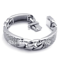 """Jewelry!Free Shipping!Retail+Wholesale 316L Stainless Steel 8.4""""men's Bracelets 10022089"""