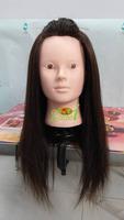 "Free Shipping Mannequin Dummy  Manikin 18 "" 85% Human Hair Hairdress Training Mannequin Head With Hair"