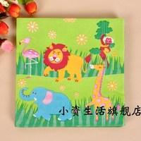 Multicolour print table napkin paper tissue facial tissue paper personalized paper towel cartoon table napkin paper animal c17