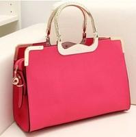 The new 2014 chun xia han edition portable oblique cross PU bag lady temperament tide restoring ancient ways bag