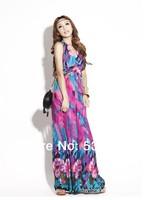 Vintage bohemia style full dress one-piece dress