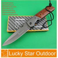 Hunting knife Browning DA52 Rosewood Steel Toe Handle Multi Pocket Folding Knives the Best Bushcraft