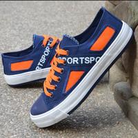 2014 summer male low skateboarding shoes fashion casual shoes color block decoration breathable canvas shoes single shoes men's