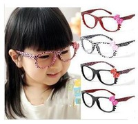 Free shipping!Wholesale Fashion Girls Leopard Glasses Frame Kids Party Eyeglasses Frame
