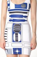 the official Star Wars x Black Milk Clothing Artoo Swimsuit - LIMITED 2014 robot digital print vest one-piece women sexy dress