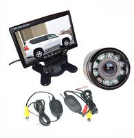 "9 IR LED Sensors Wireless Car Reversing Parking Backup Camera  + 7"" LCD Monitor Kit"