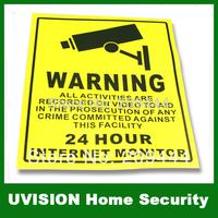 4pcs/lot Waterproof Warning CCTV Camera Stickers / Signs / Labels free shipping