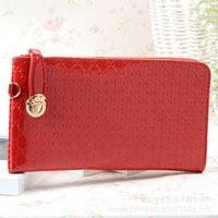 Fashion PU leather women long design wallet Purse wallet women day clutch women's lady handbag zipper bag