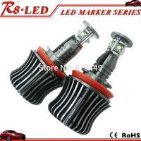 E92 H8 LED Marker Angel Eyes 2pcs X20w each one Canbus Cree LED Bulbs Error Free White No OBD Error