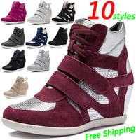 ASH Wedge Sneakers,EU 35~40,Height Increasing 6cm,Breathable,Women`s Shoes,10 Styles,No Logo,Drop Shipping/Free Shipping