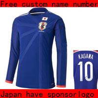 Japan jersey   japan long sleeve  soccer jerseys  KAGAWA HONDA  KAKITANI 2014 world cup jerseys