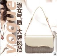 free shipping japanned leather chain serpentine pattern women's handbag one shoulder handbag cross-body small bags