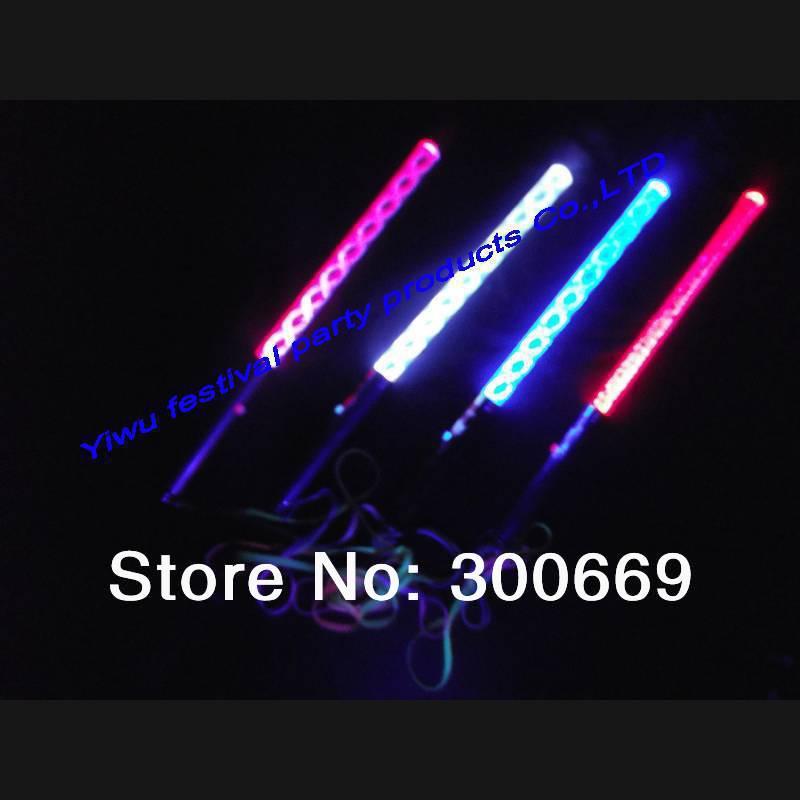 free shipping led stick 7-colors changing Stick led flash light glow stick magic wand for Disco Party Wedding Xmas Gift(China (Mainland))
