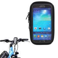 Fashion Waterproof Bike Bicycle Phone Case Cover Protector Bag Pouch Handlebar Mount Holder Cradle For Samsung S4 i9500 S3 i9300