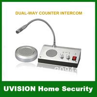 ZHUDELE Home Security 110V / 220V English Version Window Intercom Kit Dual-way Intercom System For Counter free shipping
