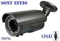 "1/3""Sony Effio-e 700TVL 42led with OSD menu Indoor/Outdoor security IR CCTV Camera with bracket"