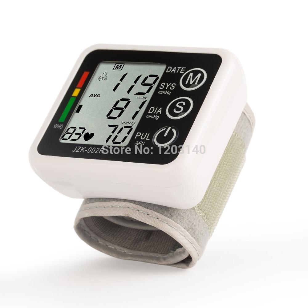 La pression artérielle de poignet numérique écran lcd de rythme cardiaque& d'impulsions. santé moniteur moniteur