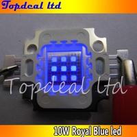 50pcs/lot High Quality LED 10W 10 Watt Royal Blue High Power LED beads Light Lamp Chip 445-450nm for fish tank