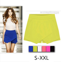 2014 Candy Color Leisure flounced wild thin shorts Women culottes 6 Color 5 Size Plus size