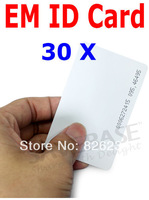 30pcs 125Khz EM Proximity Card ID Card RFID Proximity Cards 0.8mm Thickness High-quality Brand New Lowest Price Free Shipping