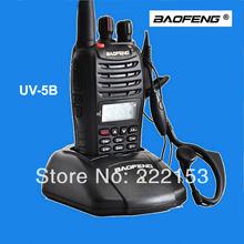 Free shipping BaoFeng UV5B uv-b5 Walkie Talkie In Two Way Radio 136-174/400-520MHz VHF/UHF Handheld Wakie Talkie FM Transceiver
