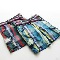 Wholesale  High Quality Children Boy Fashion Plaid Shorts Kids Cothing Boy's Pants & Capris  3-4-5-6-7years Old