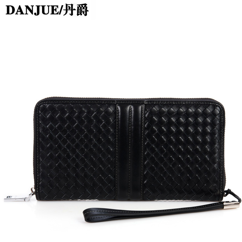 Dan MG 2014 new fashion casual men's European and American style leather handbag textile pattern a generation of fat(China (Mainland))