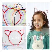 Free Shipping Cute Cat Ear Headbands kids Hair Accessories girls Hairband fashion Hoop Hairwear B-0102