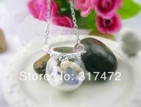 Free ship!10set/lot 25mm ball 15mm open Glass Bubble vial glass globe with base finding set glass bubble DIY vial pendant