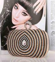 2014 new design fashion women crystal vortex evening Bag luxury rhinestone dimond wedding party women day clutches 0988