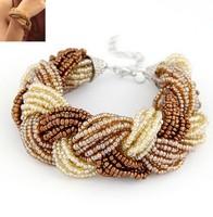 European and American fashion charm temperament of extraordinary splendour woven beads bracelet#11041649