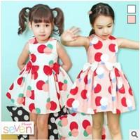 wholesale! 2014 new flower girl's polka dot princess dress summer sleeveless pink cute dresses children's clothes