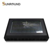288pcs 1w Brigelux Led Chip 6000K Aquarium Light 288w Freshwater Plant Tropical Fish Lamps  - Frosted Black Case
