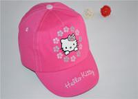 (10 Pcs/Lot) Fashion Embroidery Hello Kitty Cotton 1~5 Years Children Girl's Sport Baseball Hats