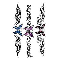 Free ship/5pcs/lot/HM494,temporary tattoo sticker/arm,waist,back,body/Butterfly,coloful,chain/waterproof,Rub-on transfer/CE