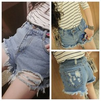 2014 European Grand Prix latest influx of spring Bottoms cowgirl waist jeans ladies jeans shorts hole jeans women