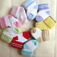 Free Shipping 2014 Newest Lovely Baby Infant Winter Autumn Warm Socks Ankle Socks Soft Comfortable Children Floor Socks Gift