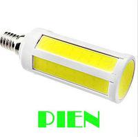 Warm White Cold White 7W Corn light COB E14 Ultra bright SMD LED Lamp Bulb with 360 degree Spot light home CE Free shipping 1pcs