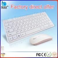 Free Shipping! Wireless Slim Laptop Fashion Keyboard and Mouse Combo