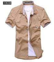 Free shipping Short Shirts Male Khaki Shirts Fashion clothes Mushrooms Shirts Summer Clothes cool small size shirts