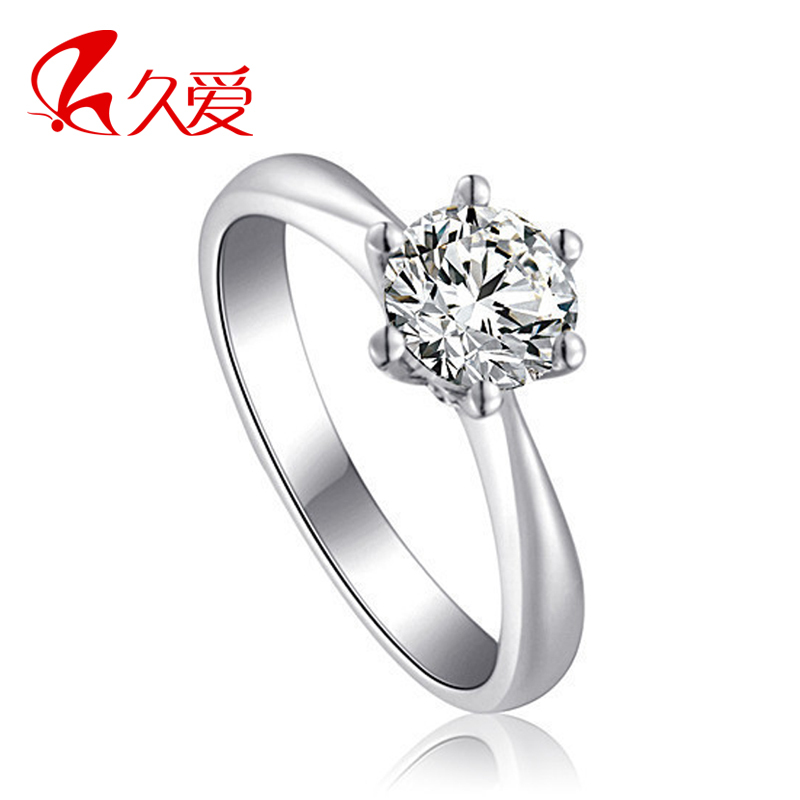 Classic 925 pure silver ring female lovers ring cubic zircon ring silver marriage
