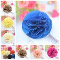 2.1 Inch Fashion Dacron flowers girls women headband Dainty Polyester Fabric Flowers for hair band hair accessories 200PCS