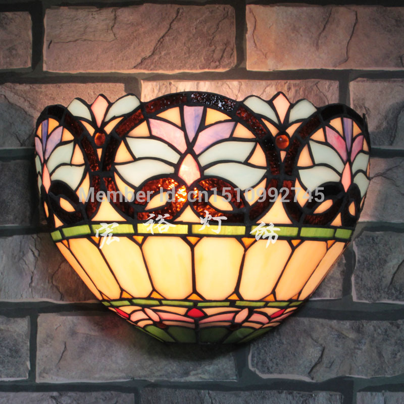 Tiffany Glass Wall Lights : Antique Tiffany Victoria Wall Lamp Stained Glass Lampshade Wall Sconce Indoor Light Fixtures ...