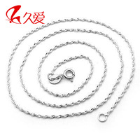 925 pure silver accessories necklace female lovers necklace silver chain silver jewelry pendant