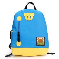 New 2014 children school bags  Waterproof  Polyester fiber+pu children school bag