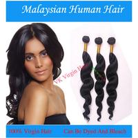 Cheap 2014 New Human Hair Malaysian Loose Wave Hair Extensions Super A Malaysian Virgin Hair Weaves 3PCS/Lot DHL Free Shipping