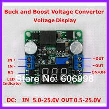Buck And Boost Voltage Converter Voltmeter Display 5 25V