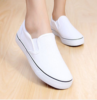 Hot sale ! new cheap women and men spring and summer hand painting blank flat shoes /pedal foot wrapping canvas shoes 35-44